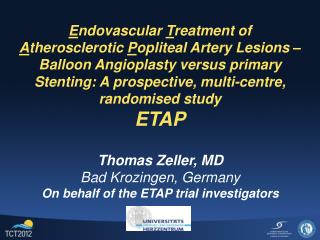 Endovascular Treatment of Atherosclerotic Popliteal Artery Lesions   Balloon Angioplasty versus primary Stenting: A pros