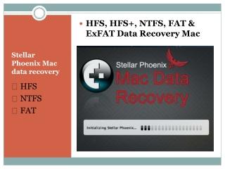 HFS, HFS , FAT, EXFAT and NTFS data recovery Mac