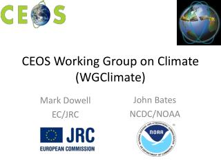 CEOS Working Group on Climate WGClimate
