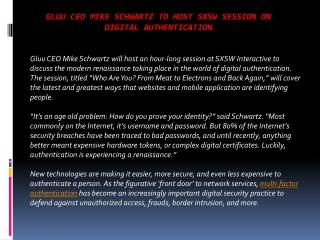 Gluu CEO Mike Schwartz to host SXSW session on digital auth