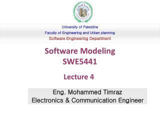 Eng. Mohammed Timraz Electronics  Communication Engineer