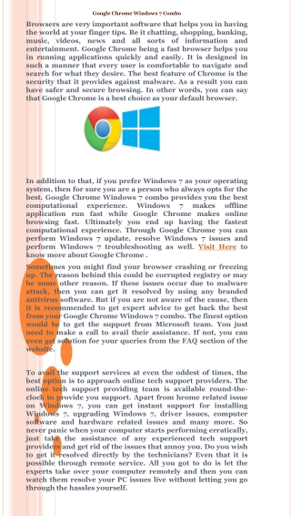 Google Chrome Windows 7 Combo