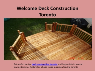 Deck Construction Toronto