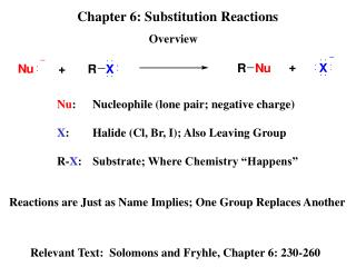 Chapter 6: Substitution Reactions