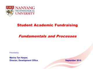 Student Academic Fundraising   Fundamentals and Processes