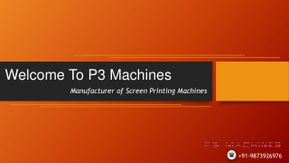 UV Curing Machine in Delhi - P3 Machines