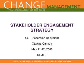 STAKEHOLDER ENGAGEMENT STRATEGY