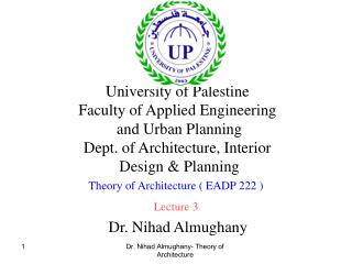 Dr. Nihad Almughany- Theory of Architecture