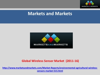 Wireless Sensors Market in Precision Agriculture and Environ