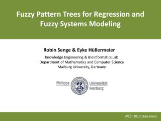 Fuzzy Pattern Trees for Regression and Fuzzy Systems Modeling
