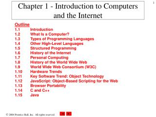 Chapter 1 - Introduction to Computers and the Internet