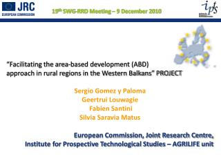 Facilitating the area-based development ABD                          approach in rural regions in the Western Balkans