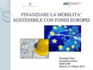 FINANZIARE LA MOBILITA  SOSTENIBILE CON FONDI EUROPEI