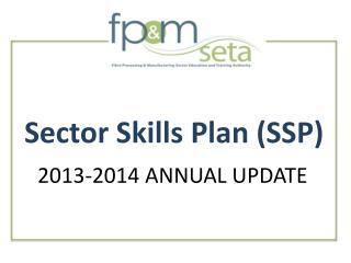 Sector Skills Plan SSP