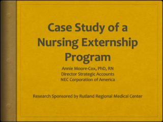 Case Study of a Nursing Externship Program