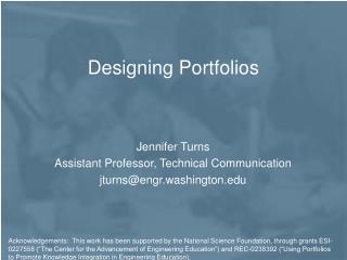 Designing Portfolios