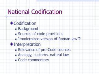 National Codification