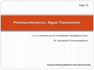 Pharmacodynamics: Signal Transduction