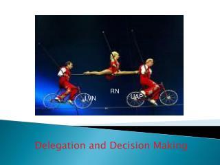 Delegation and Decision Making