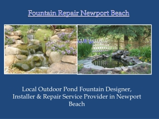 Newport Beach Pond Liner Repair