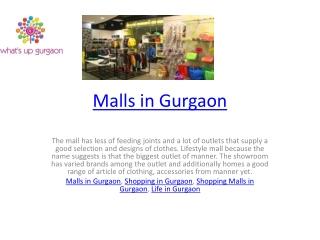 Malls in Gurgaon