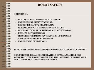 ROBOT SAFETY