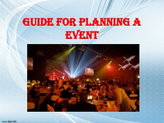 Guide for planning a event