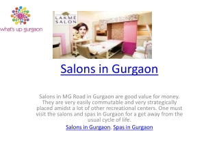 Salons in Gurgaon
