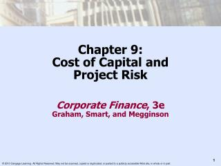Chapter 9: Cost of Capital and  Project Risk