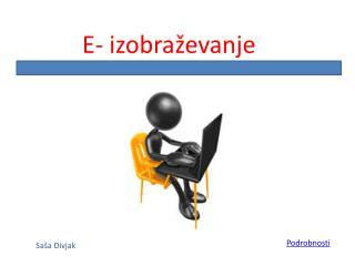 E- izobra evanje