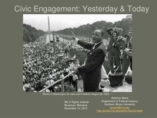 Civic Engagement: Yesterday  Today