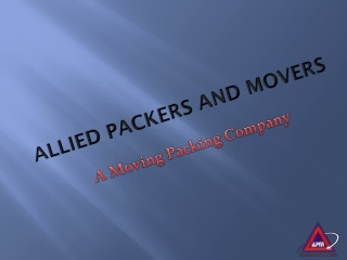Allied Packers and Movers in Delhi