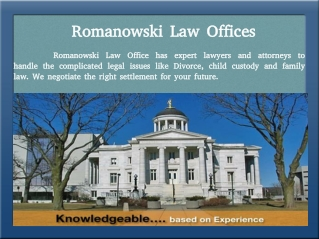 Welcome to Romanowski Law Offices