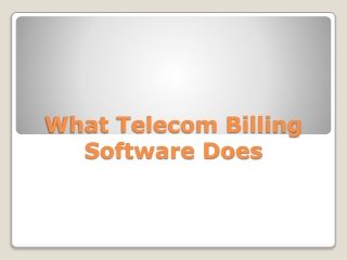 What telecom billing software does