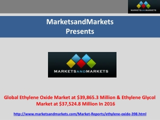 Global Ethylene Oxide and Ethylene Glycol Market by Applicat