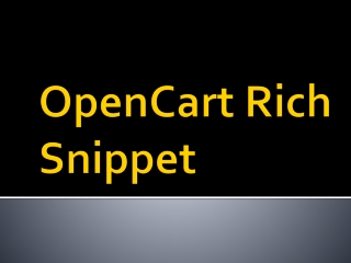 OpenCart Rich Snippet