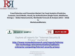 Fraud Detection and Prevention Market Analysis to 2018