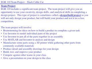 EGR 110 Team Project   Slack Cable Car