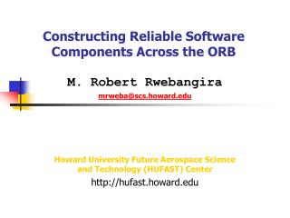 Constructing Reliable Software Components Across the ORB