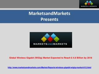 Global Wireless Gigabit (WiGig) Market Expected to Reach $ 4