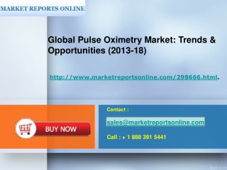 Market Research of GLOBAL PULSE OXIMETRY (2013-18)
