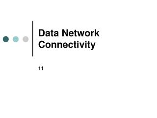 Data Network Connectivity