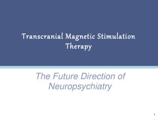 Transcranial Magnetic Stimulation Therapy