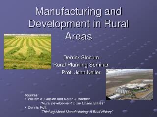 Manufacturing and Development in Rural Areas