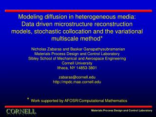 Modeling diffusion in heterogeneous media: Data driven microstructure reconstruction models, stochastic collocation and