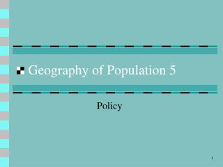 Geography of Population 5