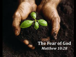 The Fear of God Matthew 10:28