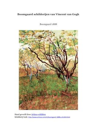 Boomgaard schilderijen van Vincent van Gogh -- Artisoo