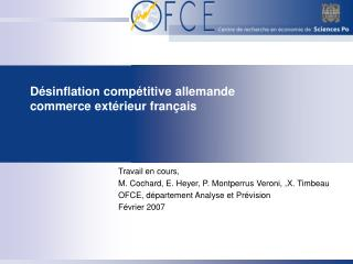 D sinflation comp titive allemande commerce ext rieur fran ais