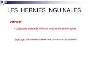 LES  HERNIES INGUINALES